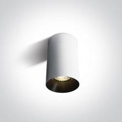 One Light Biała stylowa lampa sufitowa Mistra 12105M/W