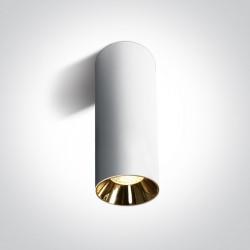 One Light Lampa do salonu biała walec Mudros 12105MA/W
