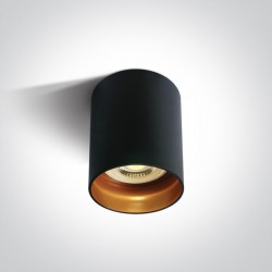 One Light Lampa sufitowa czarna styl kuchnia Muzaki 12105N/B