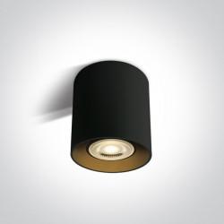 One Light Lampa sufiotwa czarna walec Roda 12105T/B