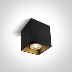 One Light Lampa sześcian loft styl czarna Sinasos 12105TA/B