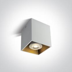 One Light Lampa sześcian loft styl czarna Sinasos 12105TA/W