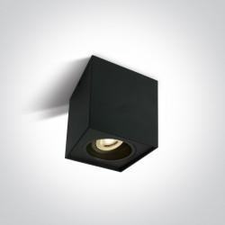 One Light Lampa sufitowa czarna sześcian Karlowasi 12105YA/B
