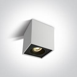 One Light Lampa sufitowa czarna sześcian Karlowasi 12105YA/W