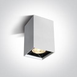 One Light Lampa sufitowa do salonu biała Nestorio 12106B/W/W