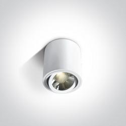 One Light Lampa LED biała walec Nimfeo 12106C/W/W