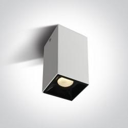 One Light Lampa sufitowa do sklepu Paralia 12107B/W/W