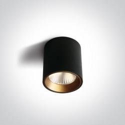 One Light Lampa sufitowa LED przyjemne światło Pitagorio 12107K/B/W