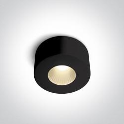 One Light Stylowa lampa LED sufitowa czarna Polijiros 12107/B/W