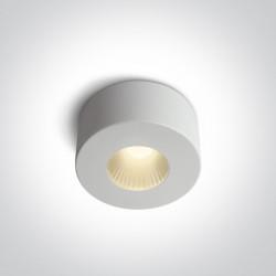 One Light Stylowa lampa LED sufitowa biała Polijiros 12107/B/W