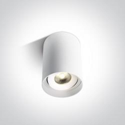 One Light Nowoczesna lampa sufitowa LED Saronida 12110D/W/W