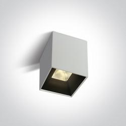 One Light Nowoczesna lampa LED sześcian Serwia 12110HA/W/W