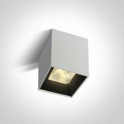 One Light Lampa sufitowa LED sześcian Serwia 2 12115HA/W/W