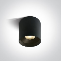 One Light Lampa LED czarna tuba Karas 2 12122C/B/W