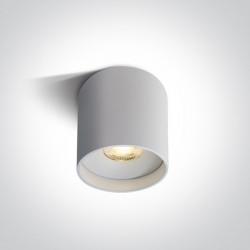 One Light Lampa LED czarna tuba Karas 2 12122C/W/W