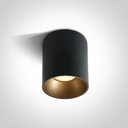 One Light Lampa sufitowa LED czarna Trizin 3 12130Z/B/W
