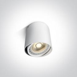 One Light Lampa sufitowa biała tuba Mykonos 12142/W