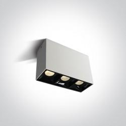 One Light Lampa pudełko Paralia 3 12307B/W/W