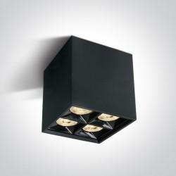 One Light Lampa sufitowa kwadratowa Lipsi 12406B/B/W