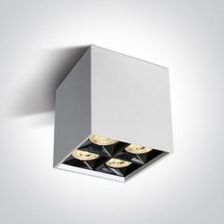 One Light Lampa sufitowa kwadratowa Lipsi 12406B/W/W