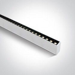One Light profil LED ciepły biały idealny do biura open space Syneti 38150B/W/W