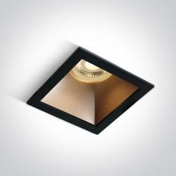 One Light lampa wpuszczana czarna mosiądz Adamas 50105M/B/BS