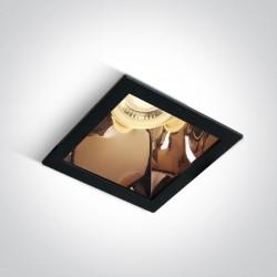 One Light lampa wpuszczana czarna miedź Adamas 50105M/B/CU
