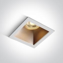 One Light lampa wpuszczana biała mosiądz Adamas 50105M/W/BS