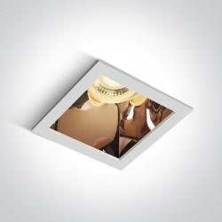One Light lampa wpuszczana biała miedź Adamas 50105M/W/CU