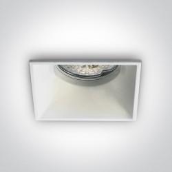 One Light lampa wpuszczana biała Plintri 50105TG/W