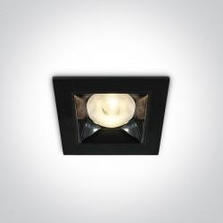 One Light czarny lustrzany wpust Apollonas 50106B/W
