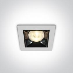 One Light biały lustrzany wpust Apollonas 50106W/W