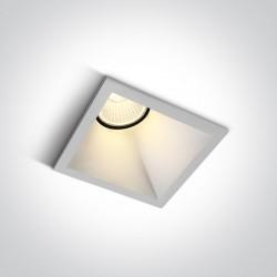 One Light lampa wpust biała Koronida 50108A/W/W