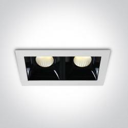 One Light lampa LED podwójna Abram 2 50207B/W/W