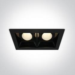 One Light lampa LED podwójna czarna Azalas 2 50220B/B/W