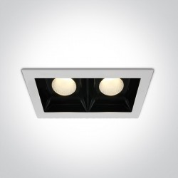 One Light lampa LED podwójna biała Azalas 2 50220B/W/W
