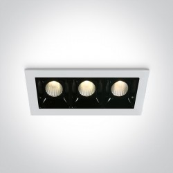 One Light lampa LED potrójna Merihas 3 50302B/W/W