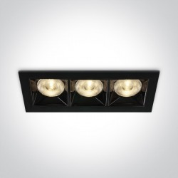 One Light lampa LED potrójna do sklepu Nisi 50306B/B/W