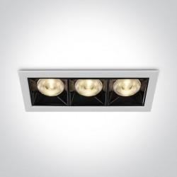 One Light lampa LED potrójna do sklepu Nisi 50306B/W/W