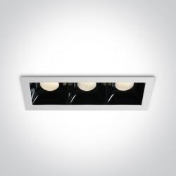 One Light lampy LED do sklepu Abram 3 50307B/W/W