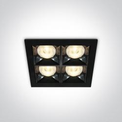 One Light ozdobny wpust LED Stivos 50406B/B/W