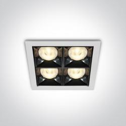 One Light ozdobny wpust LED Stivos 50406B/W/W