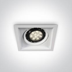 One Light wpust LED kwadrat oprawa Stomio 51110N/W