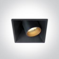One Light czarny regulowany wpust LED Skiti 51111C/B/W