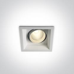 One Light wpust LED z oprawą kwadrat Mortia 51115TR/W/W