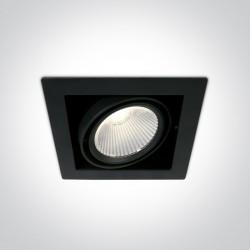One Light czarny wpust LED Piges 51130/B/C