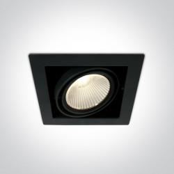 One Light czarny wpust LED Piges 51130/B/W