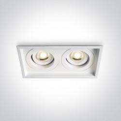 One Light biała podwójna lampa Filoteia 2 51205N/W