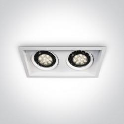 One Light podwójna lampa do sklepów Stomio 2 51210N/W