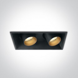 One Light podójna stylowa lampa LED Skiti 2 51211C/B/W
